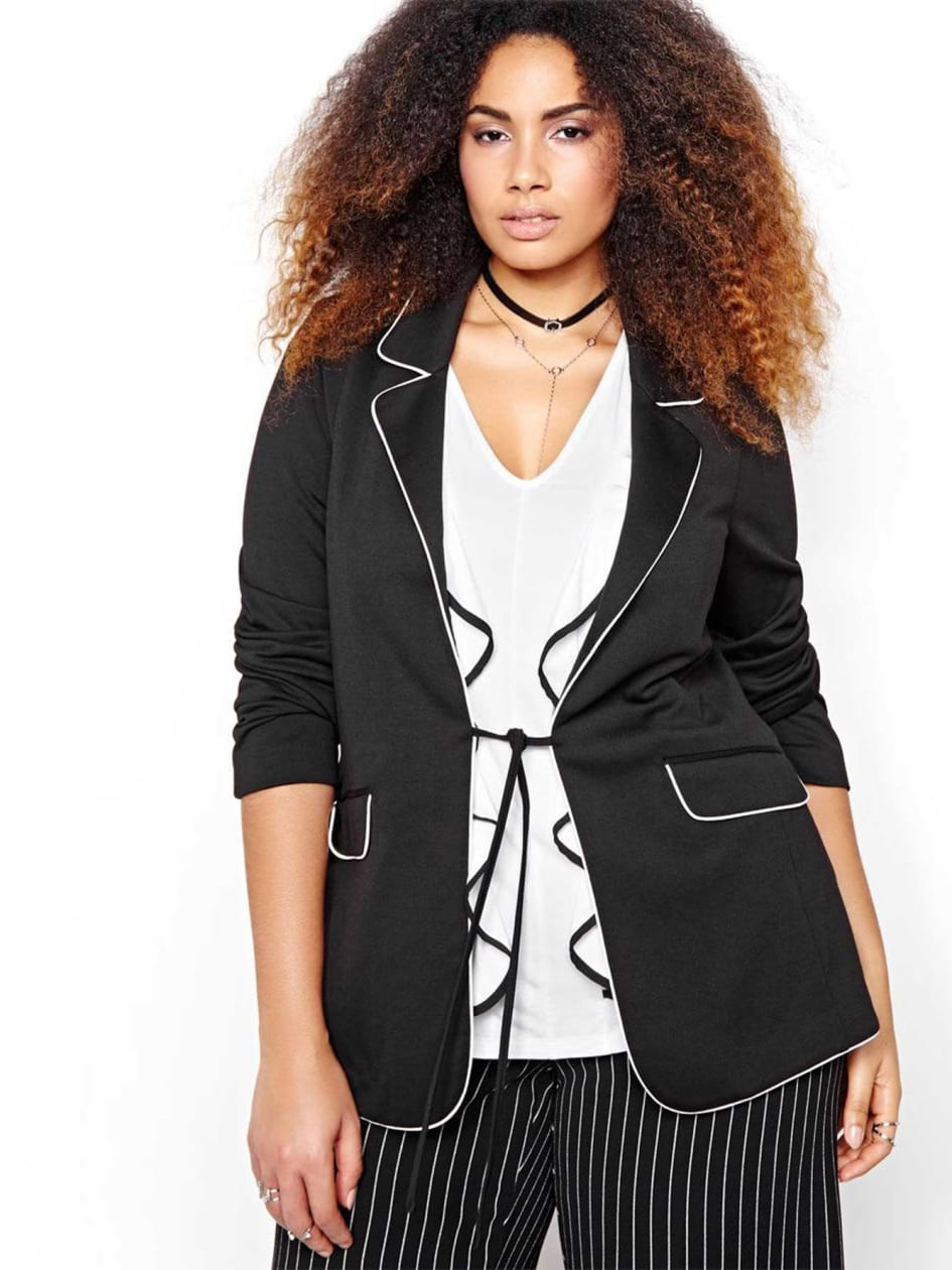 Michel Studio Blazer with Piping