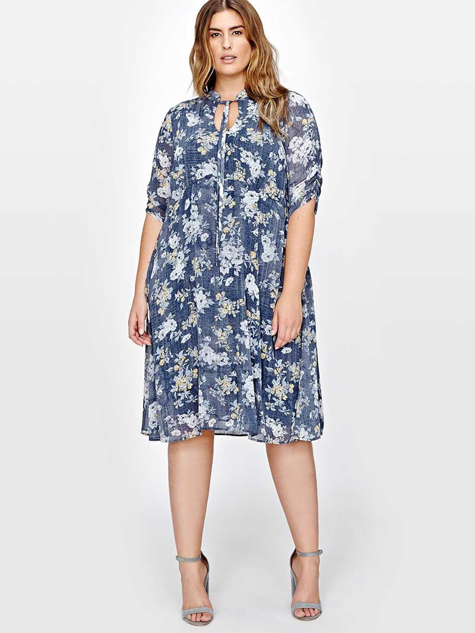 Michel Studio Flower Print Dress