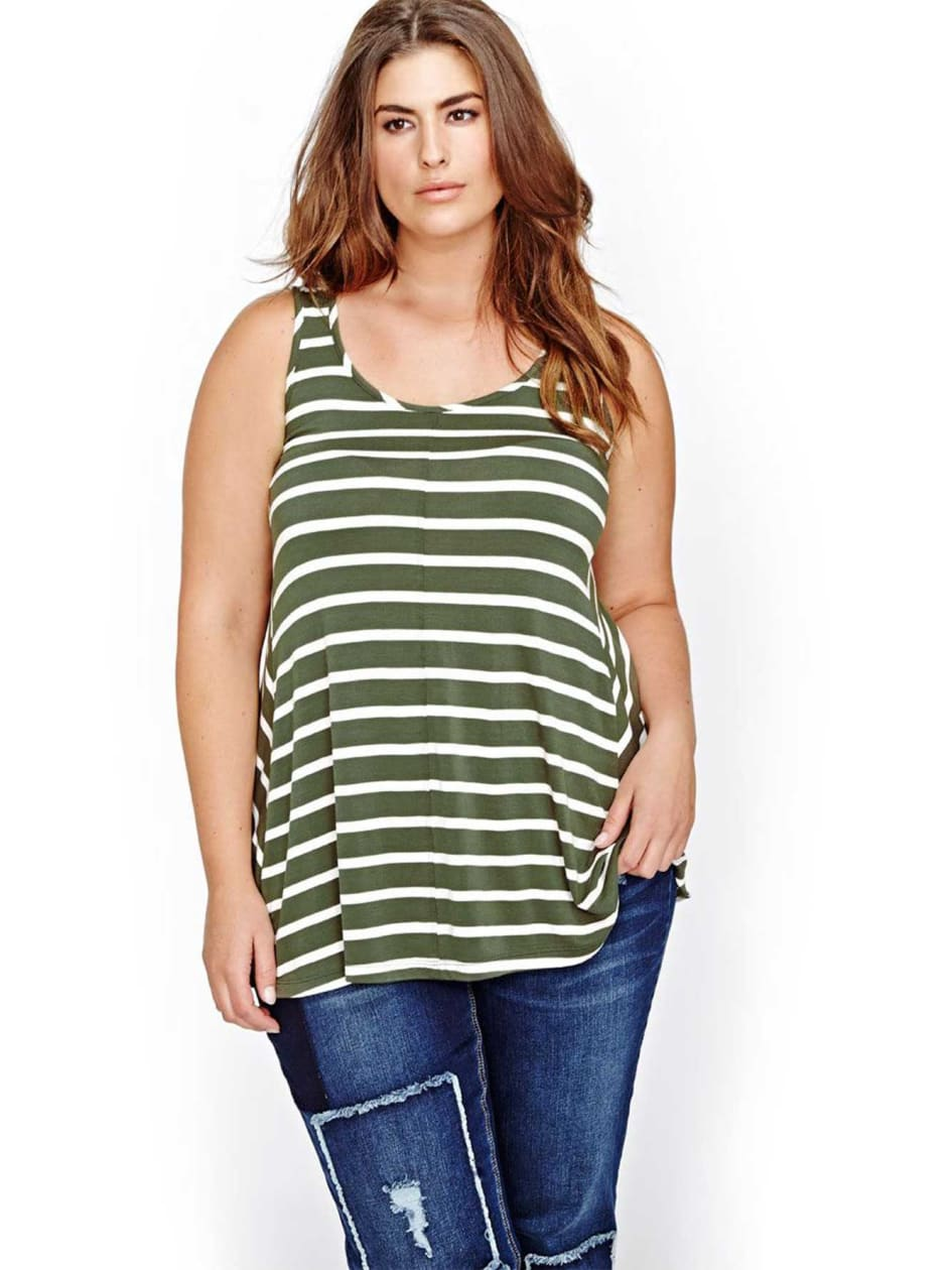 L&L Striped Swing Tank Top