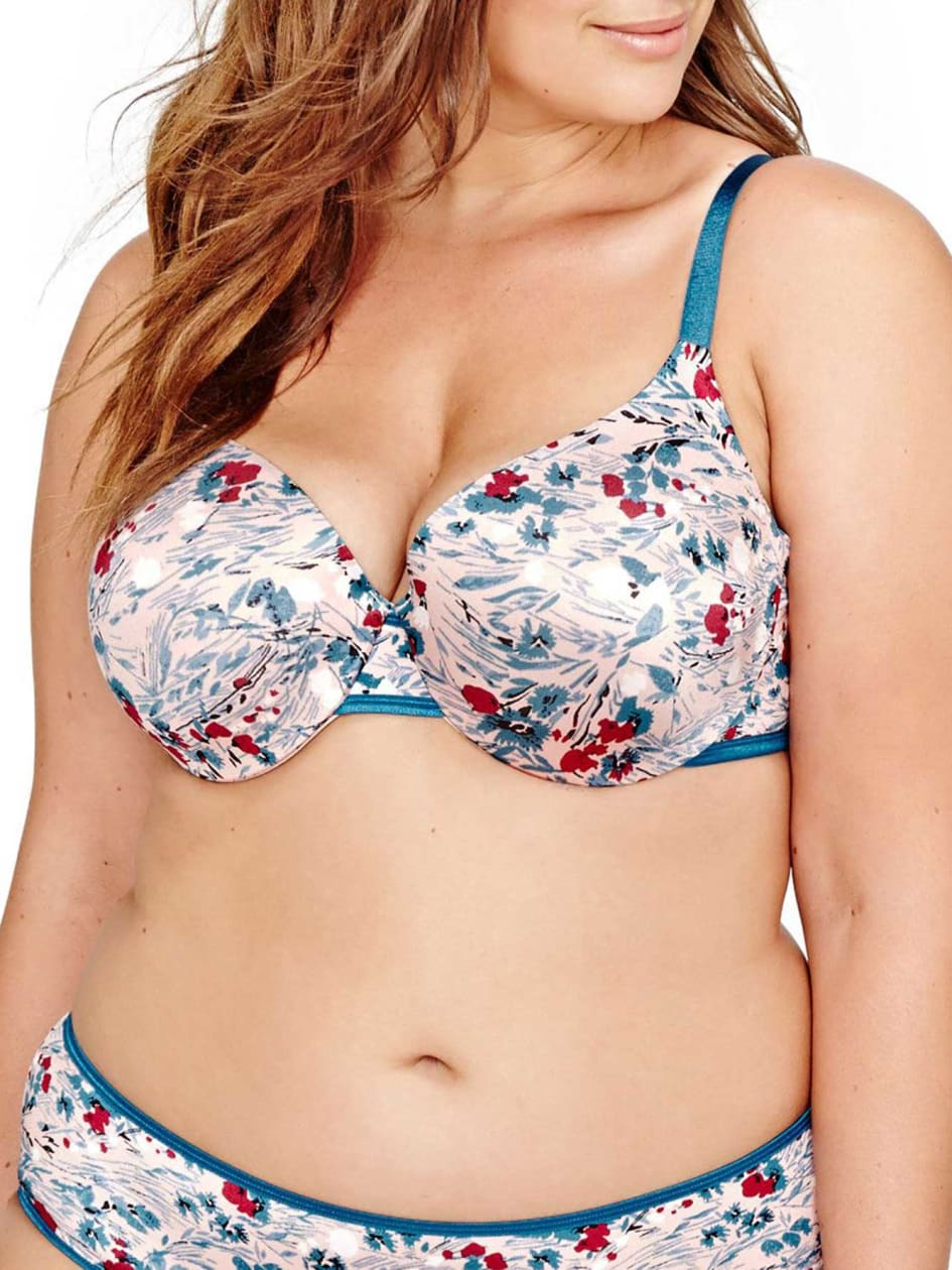 Printed Flawless T-ser Bra, Sizes G & H