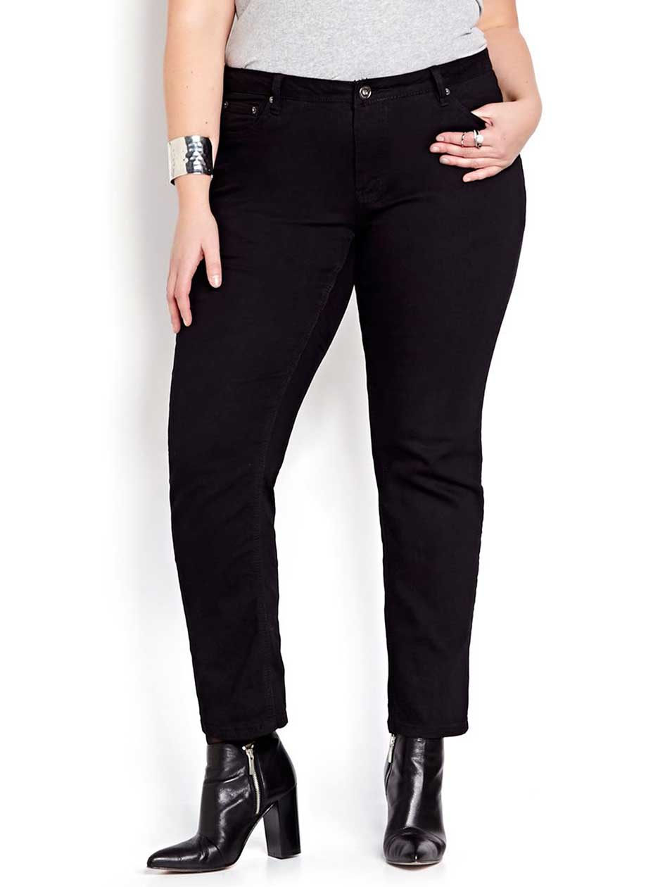 L&L Shaped Black Wash Petite Sculpting Jean