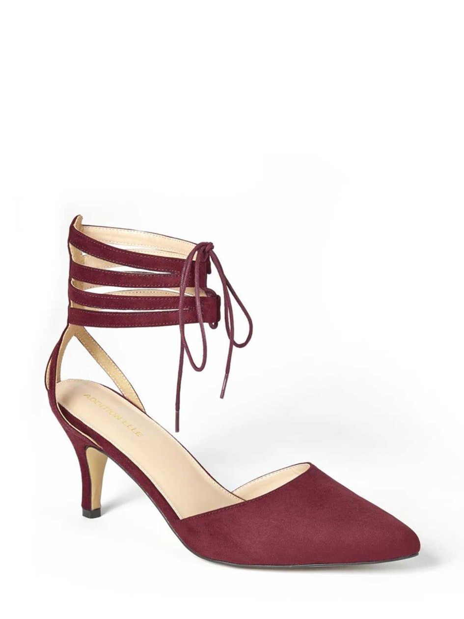 Katty Ankle Strap Lace-up Heels