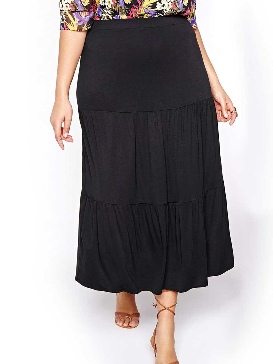 Michel Studio Solid Tiered Skirt