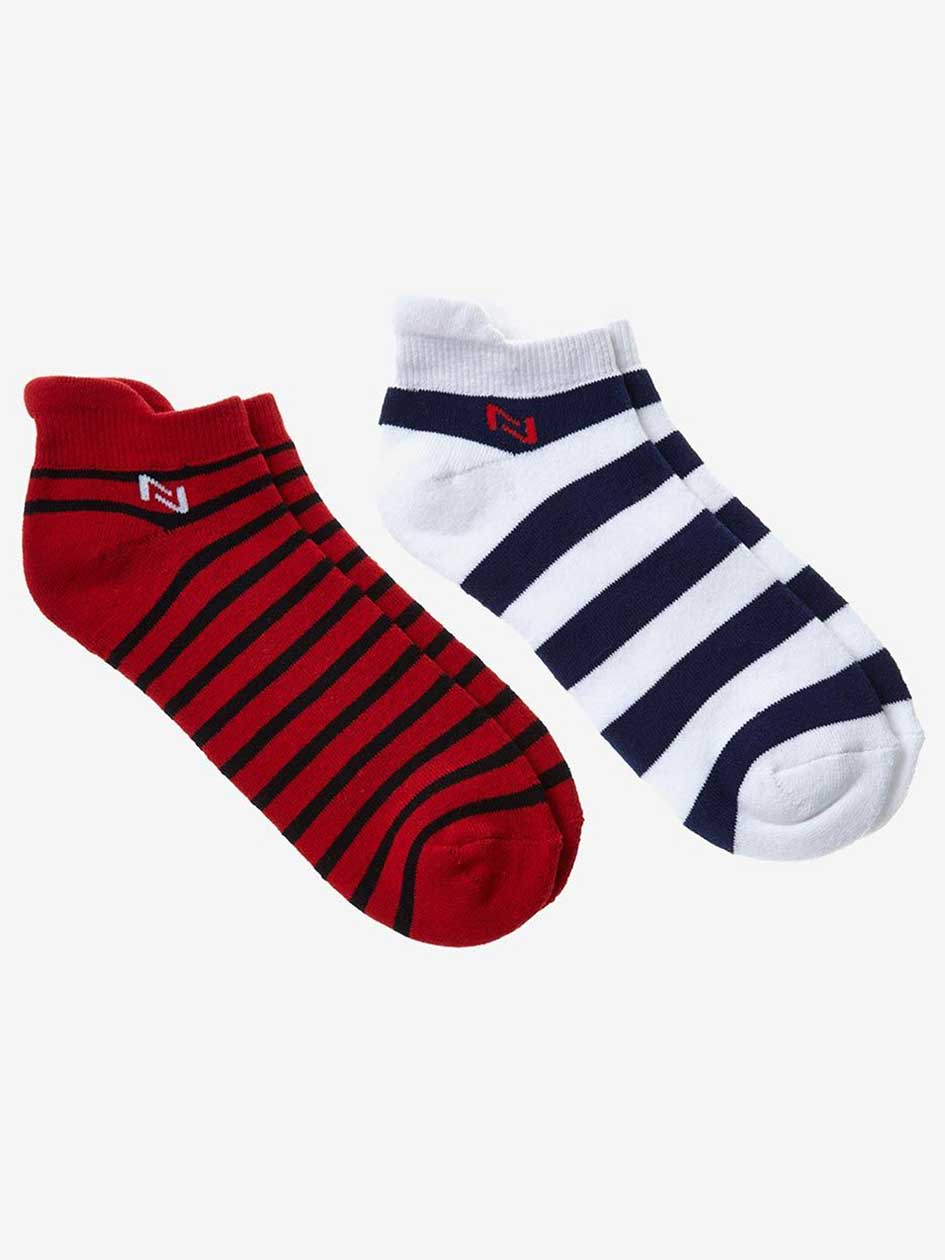 Nola Striped Sports Socks, 2 Pack