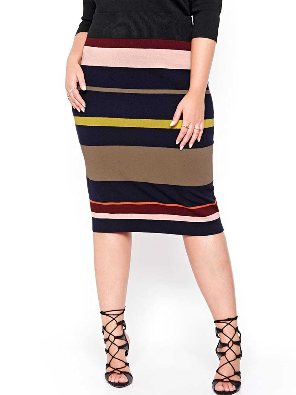 Rachel Roy Multicolor Stripe Skirt