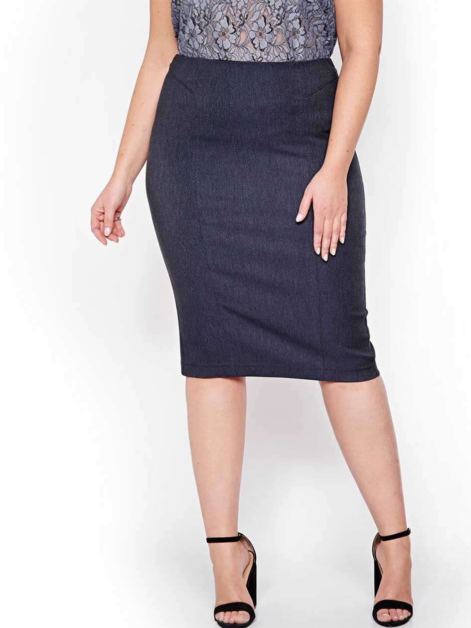 Michel Studio Pencil Skirt with Back Vent