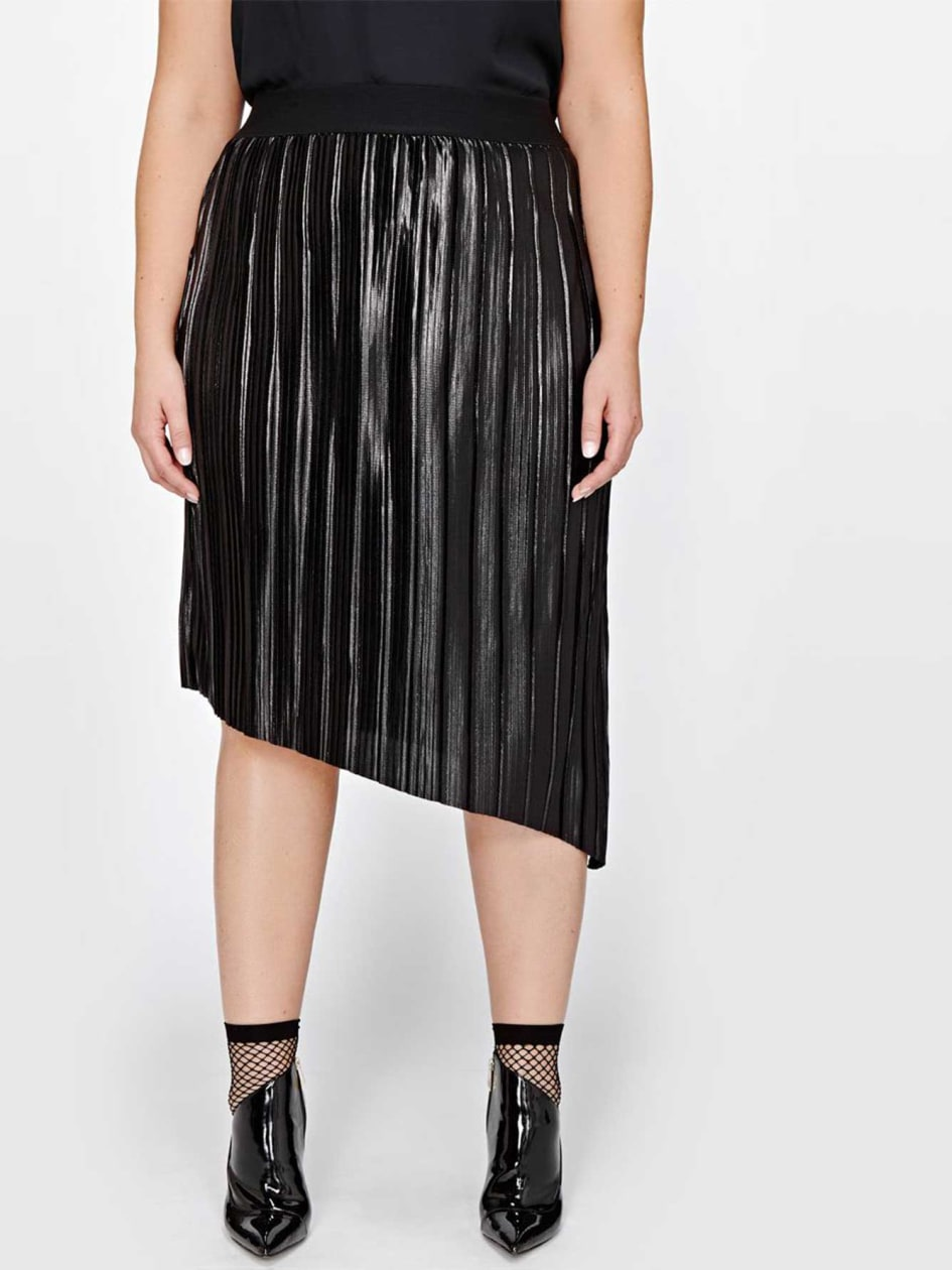 L&L Asymmetrical Pleated Skirt