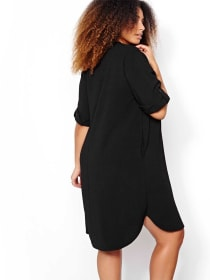 Michel Studio V-neck Tunic with Roll-up Sleeves