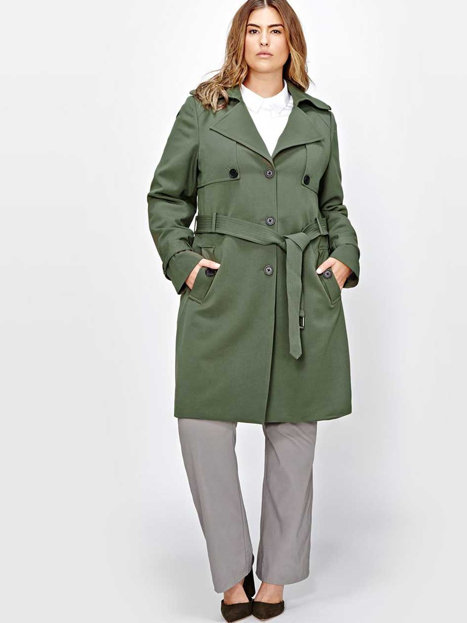Michel Studio Tricotine Trench Coat
