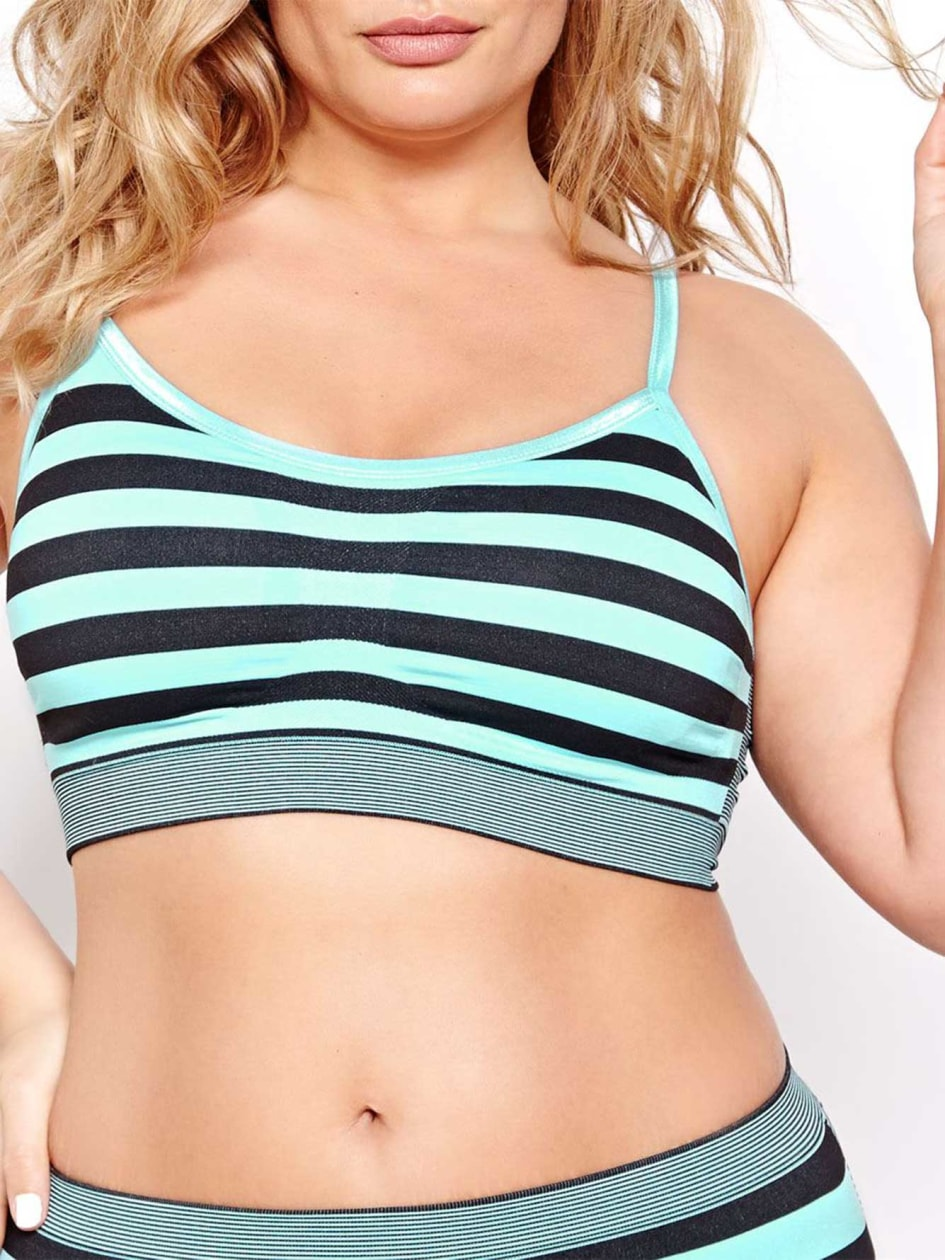 Heather Stripe Seamless Bralette - Déesse Collection