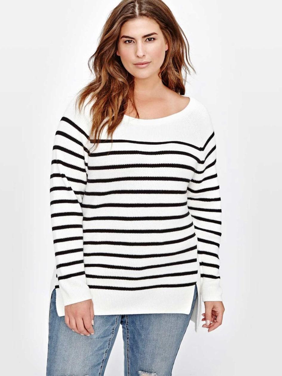 L&L Raglan Front Stripe Sweater