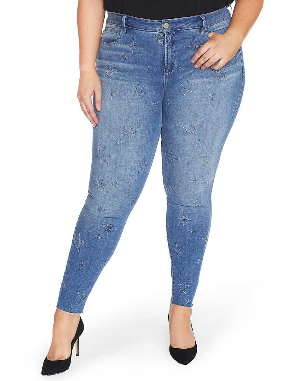 Rebel Wilson Super Skinny Jean with Embroidered Stars