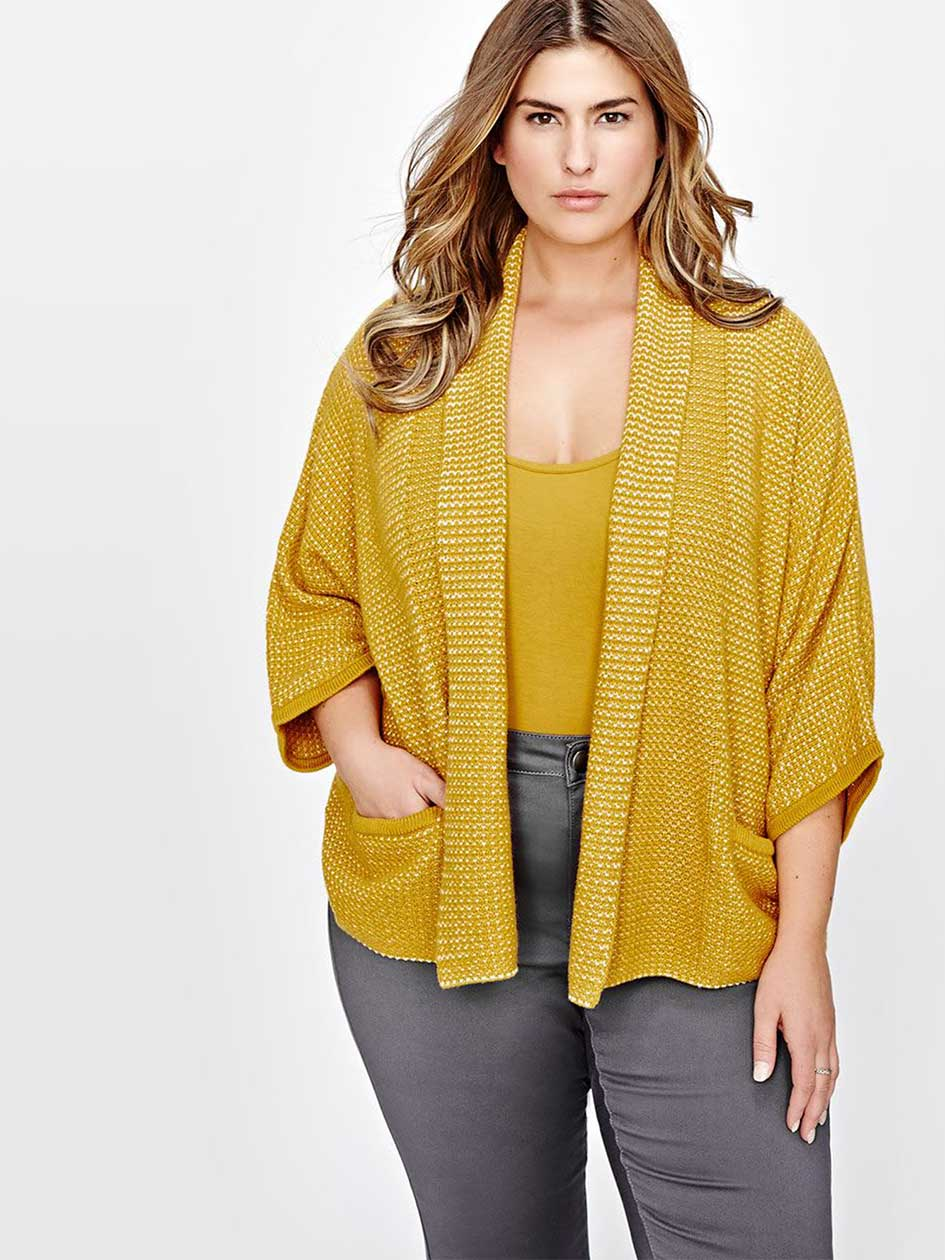 Michel Studio Open-Stitch Cocoon Cardigan