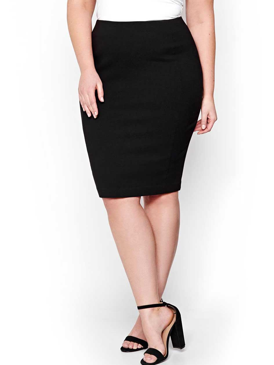 Michel Studio Bengaline Solid Pencil Skirt