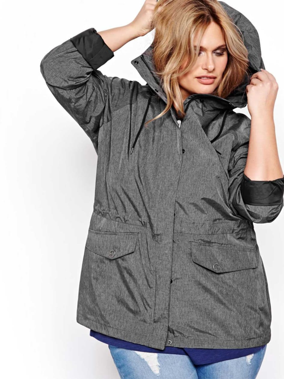 Columbia Hooded Jacket with High Neck
