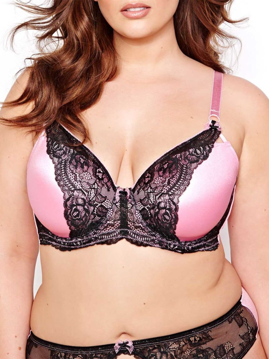 Vixen Balconet Bra with Flowery and Polka Dot Print - D?esse Collection