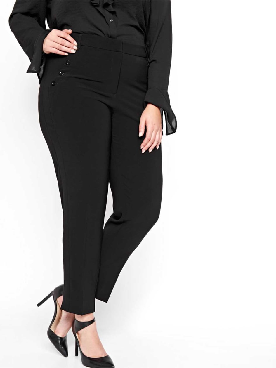 Michel Studio Ankle Pants with Buttons