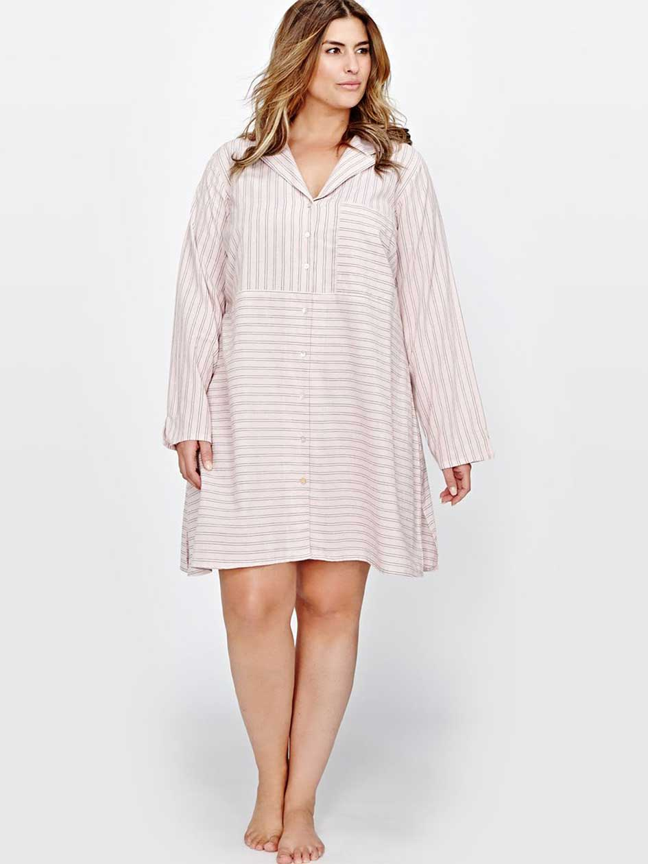 Printed Long Sleeves Sleepshirt