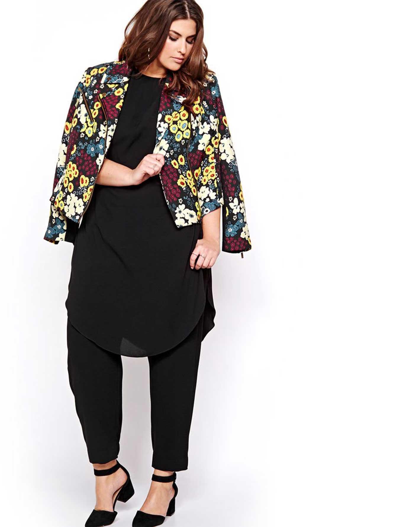 veste de motard fleurs rachel roy addition elle. Black Bedroom Furniture Sets. Home Design Ideas