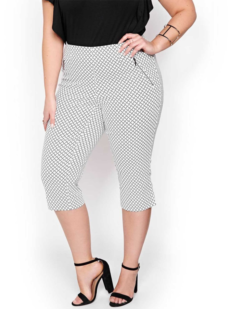 Michel Studio Printed Alexa Capri.Snow.26