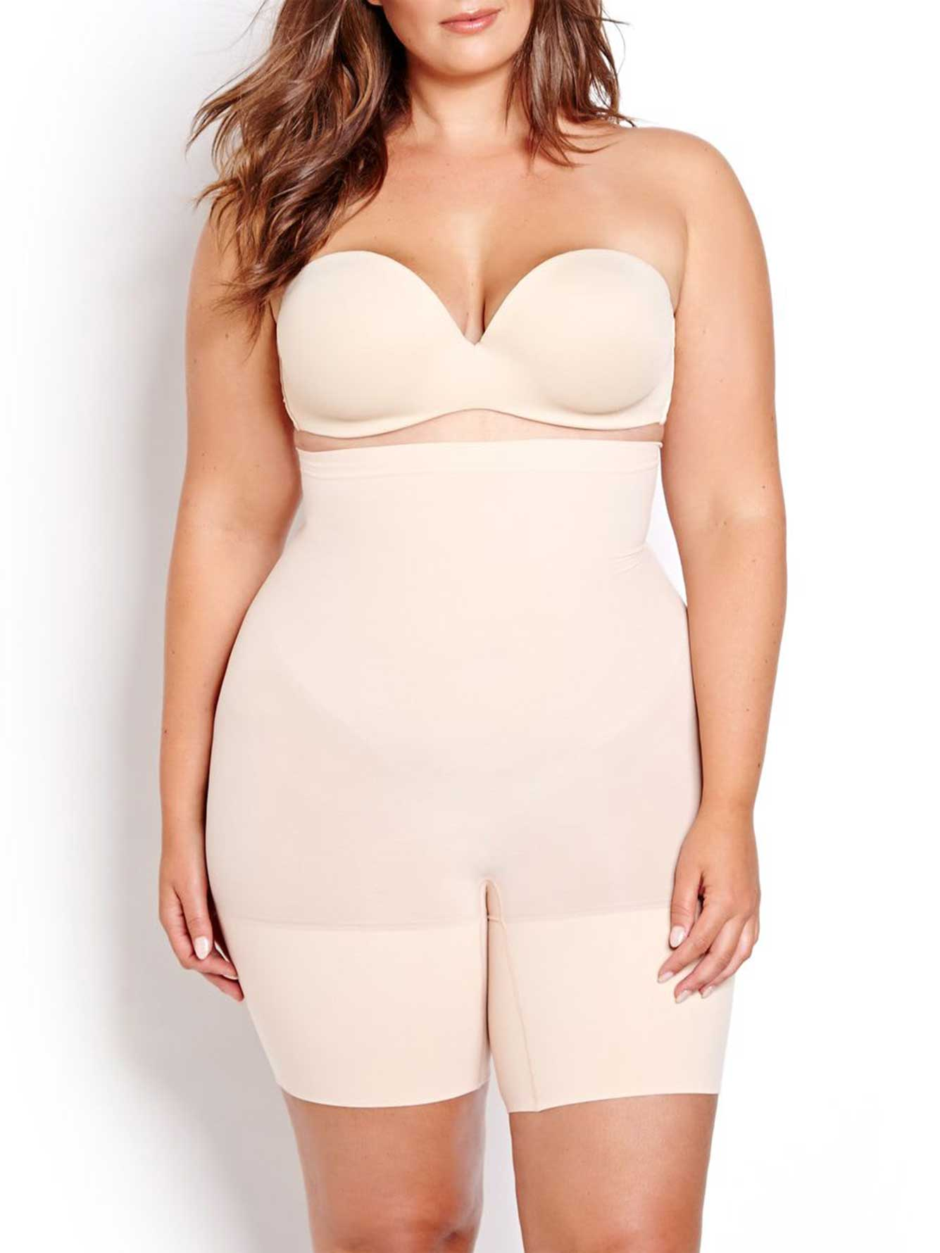 Spanx is a line of undergarments that are designed to give you a more slender look and shape your body. They do this with an assortment of products including bras, panties, leg wear, swimsuits, and body shapers. This is just one of sevearl different companies that have gained in popularity in recent years with products designed to compress and smooth out problem areas.