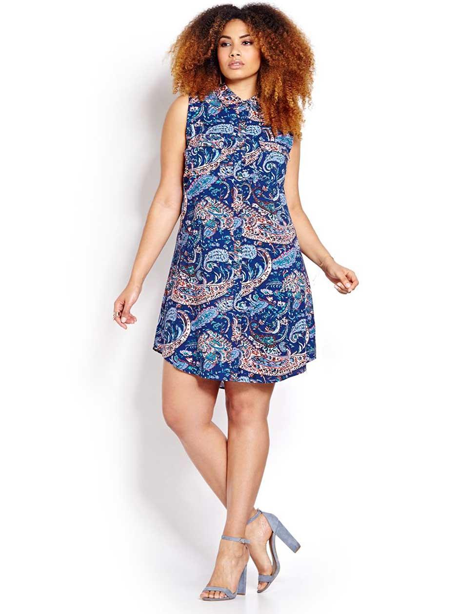 Printed Swing Shirt Dress
