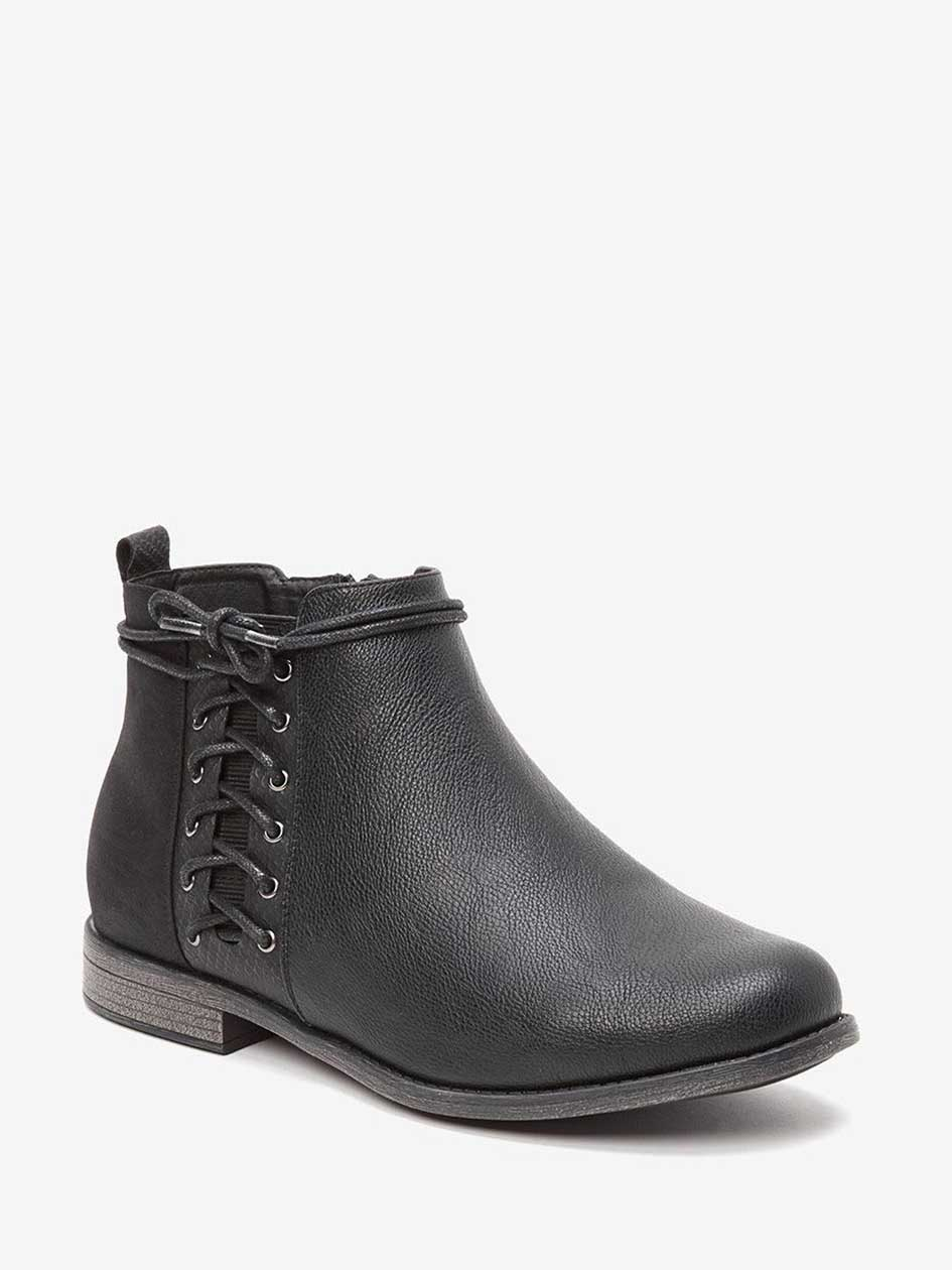 Nora Side Lace-Up Ankle Boot