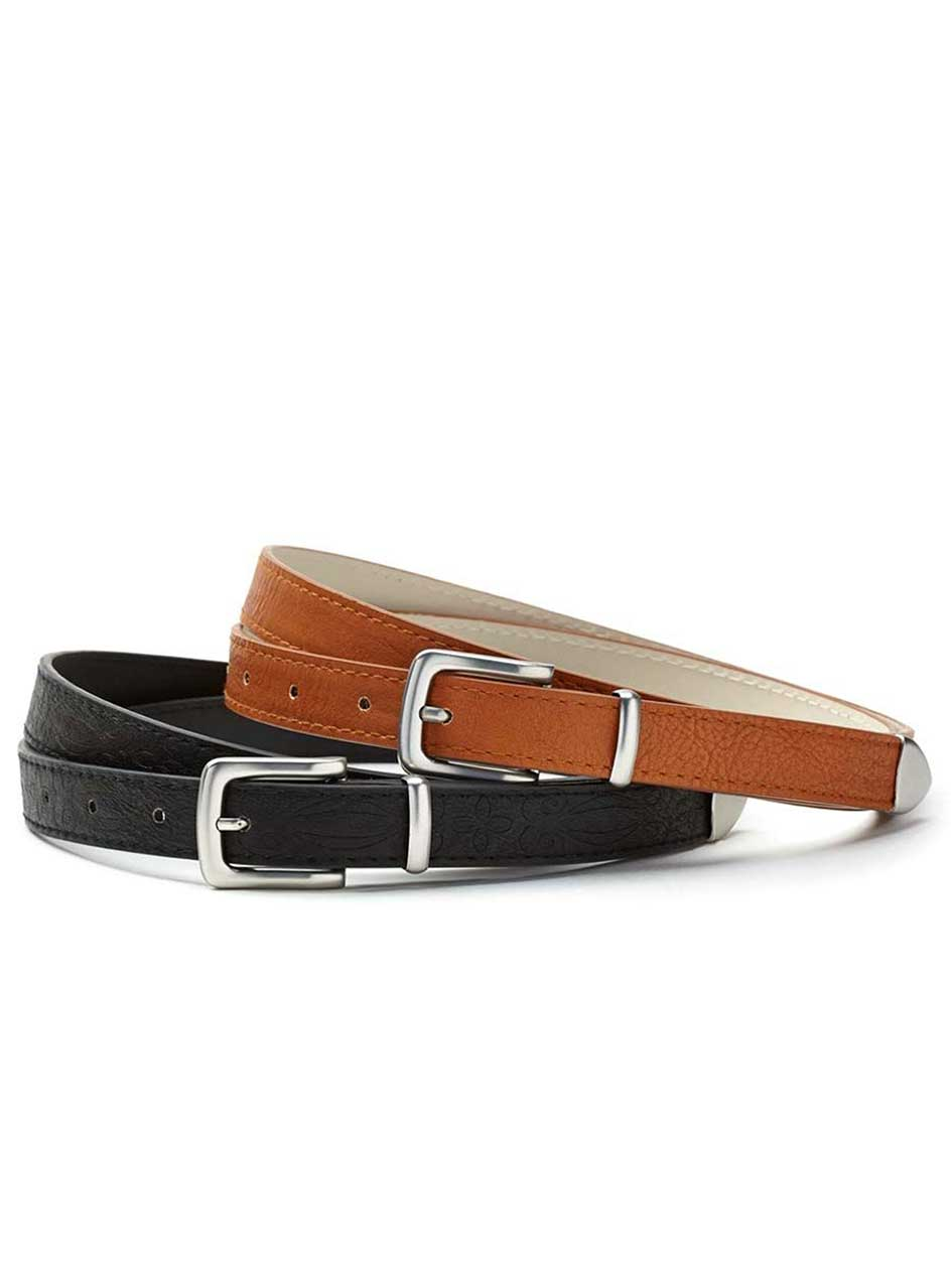 Faux Leather Belt Duo