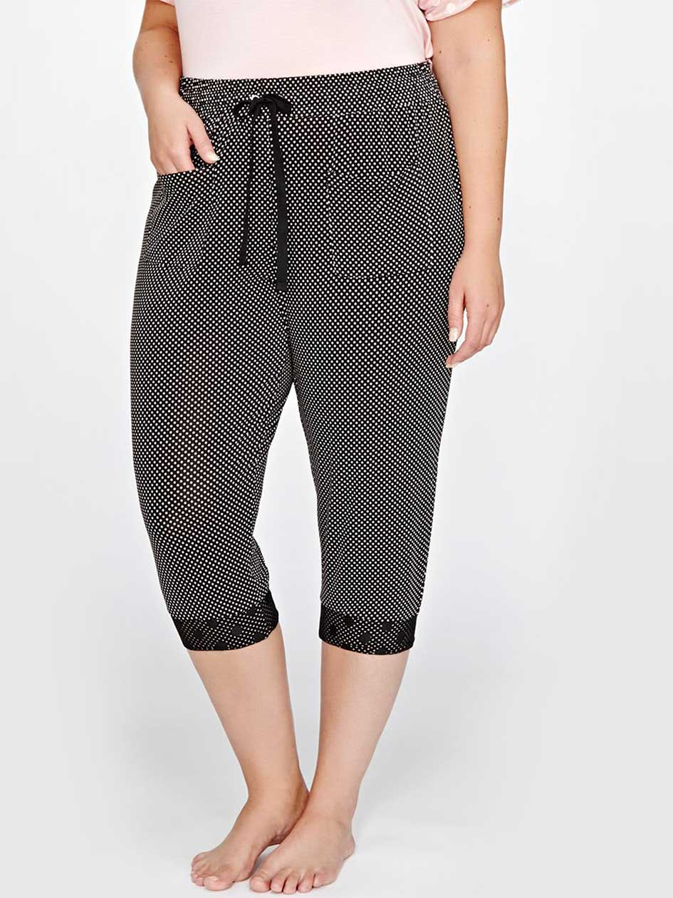 Pantalon de pyjama écourté imprimé - Collection Déesse