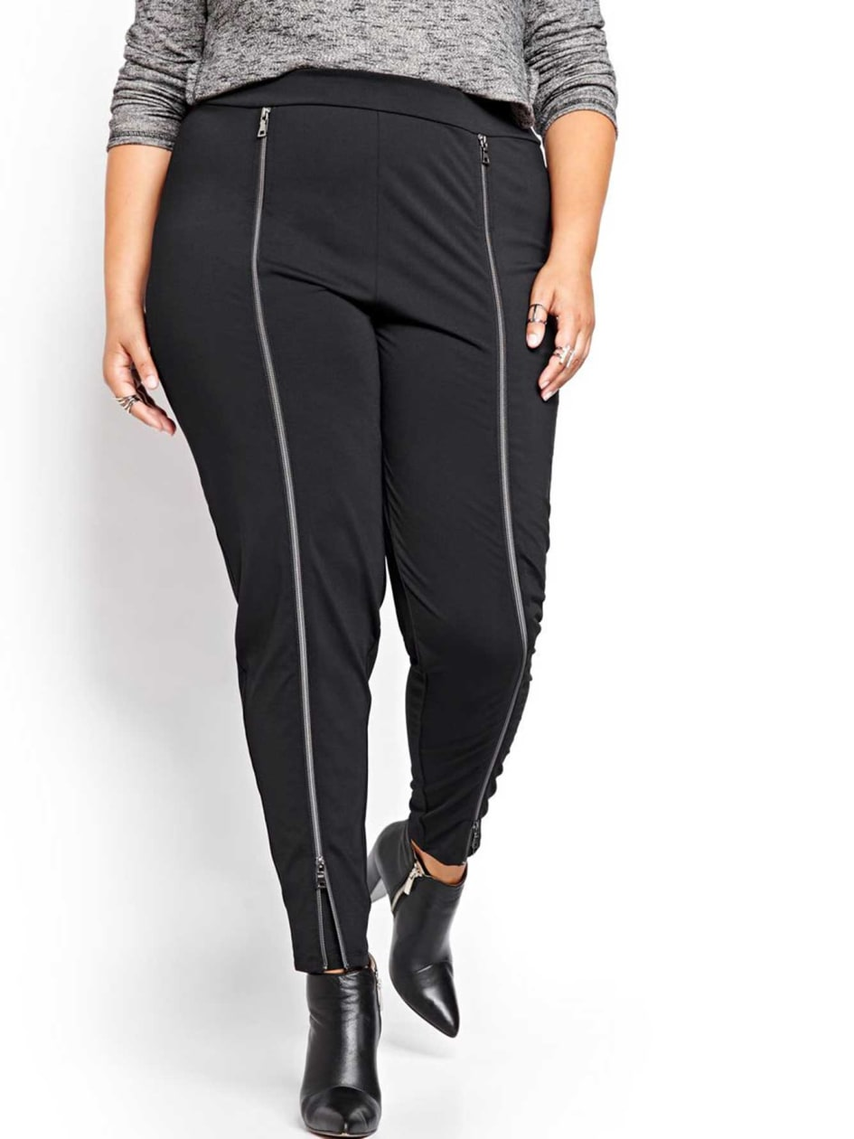 Nadia Aboulhosn Harem Legging with Zip Front for L&L