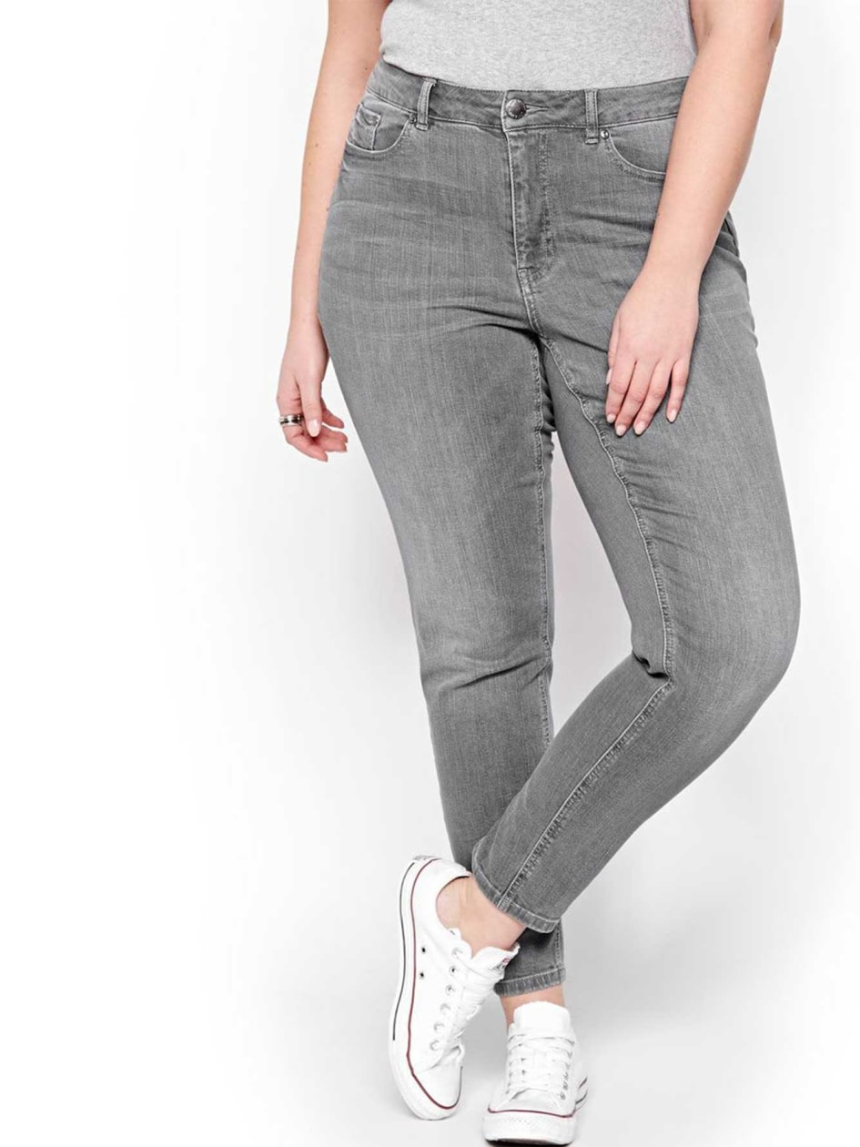 L&L Authentic Gray Regular Rise Skinny Jeans