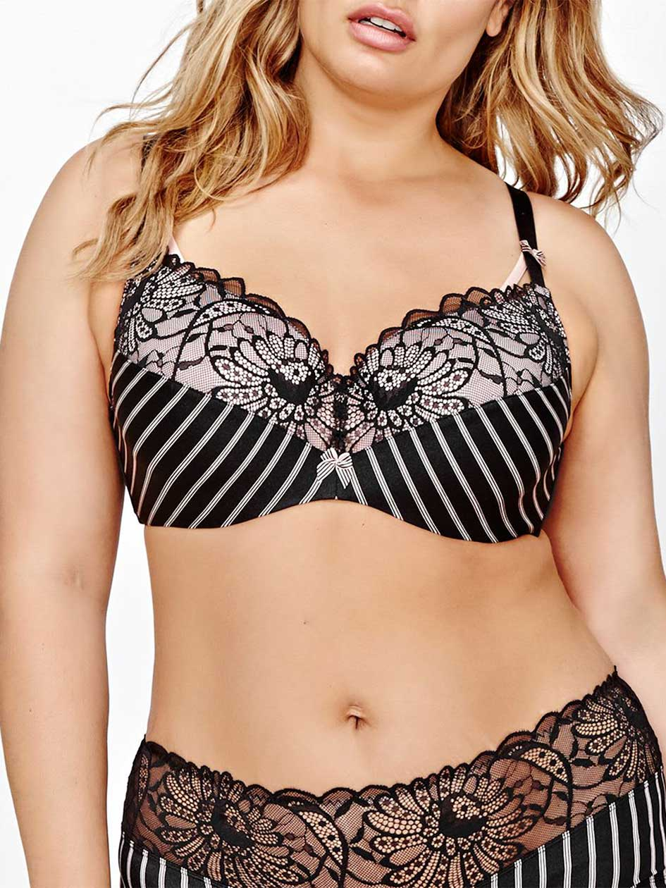 Contour Flirt Bra with Stripes and Lace