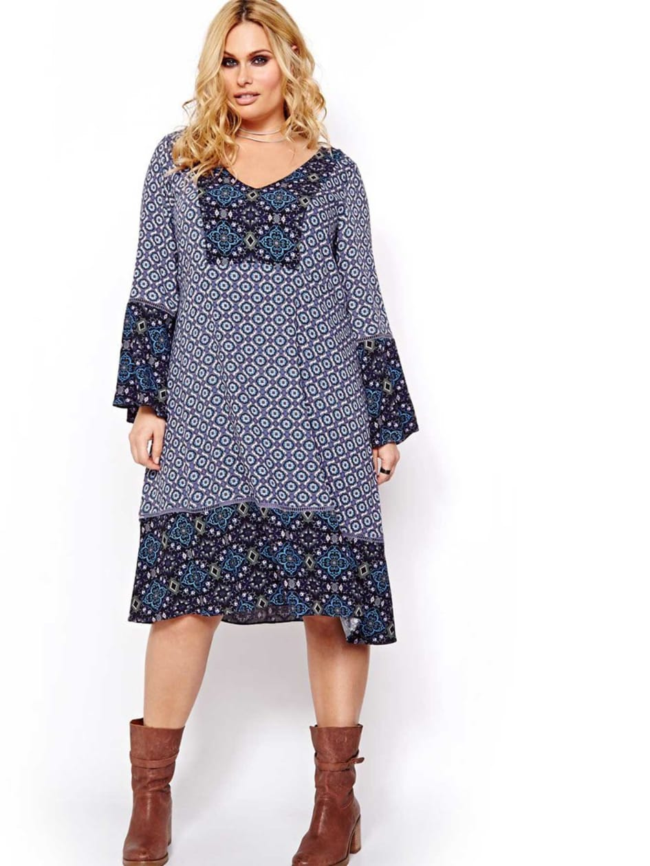 L&L Bell Sleeve Swing Dress