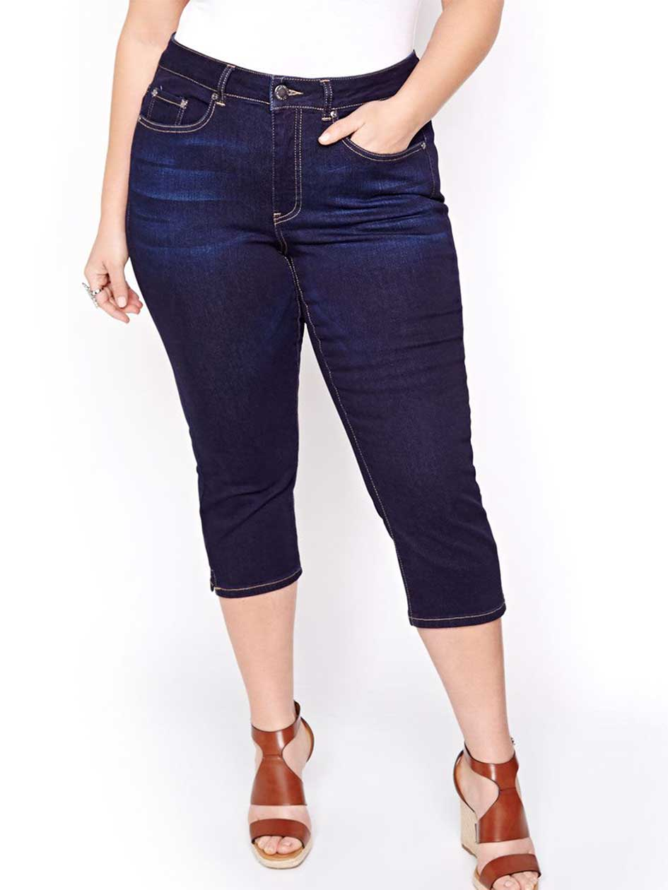 L&L Authentic Skinny Capris with Slits