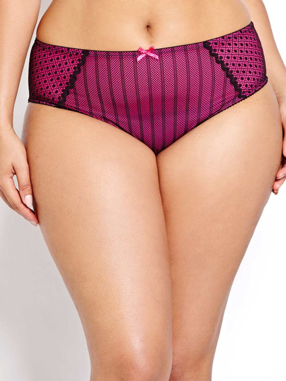 High Cut Mesh and Lace Panty - Déesse Collection