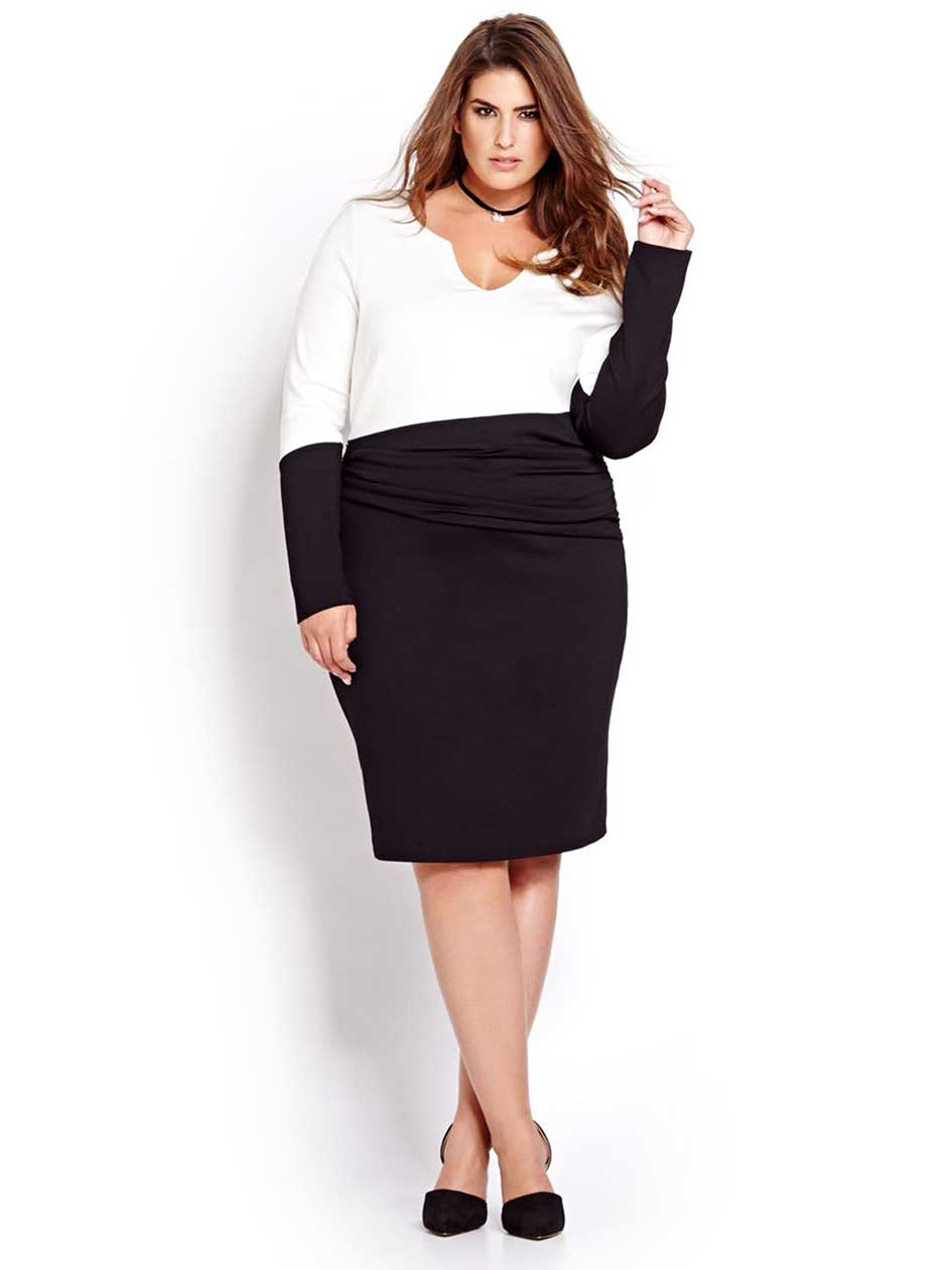 Katherine Barclay Black and White Fitted dress
