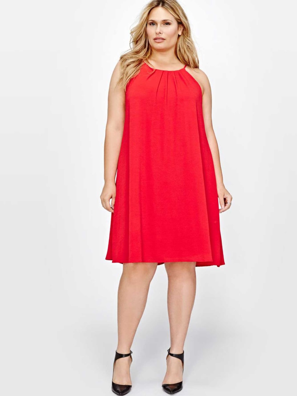 Michel Studio Dress with Pleated Front