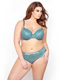 Ashley Graham Icon Bra with Lace and Mesh