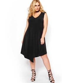 Michel Studio Sleeveless Asymmetrical Dress