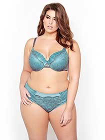 Ashley Graham Icon Bra with Lace and Mesh, Sizes G & H