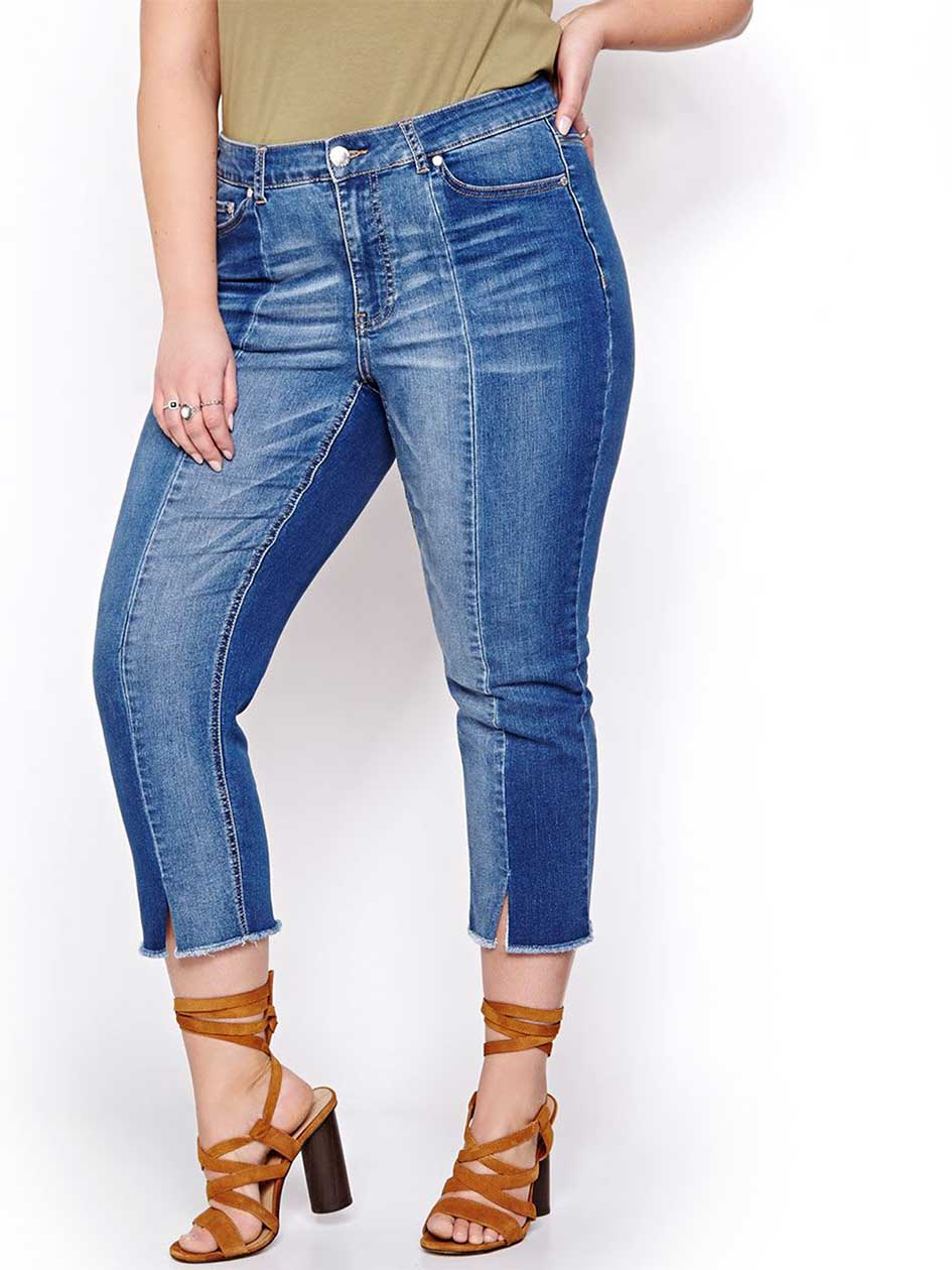 L&L Two-Toned Cropped Jeans