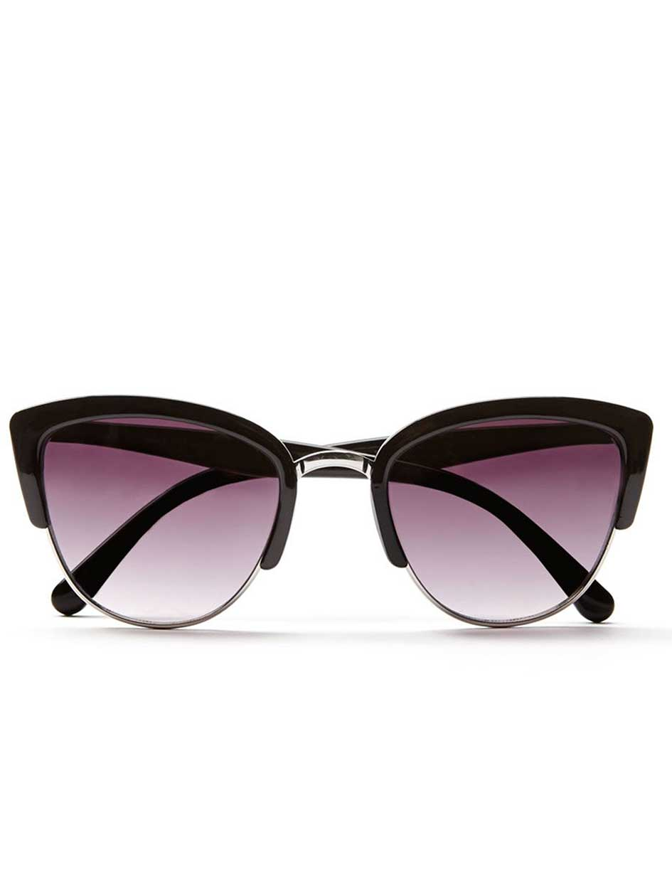Black and Silver Framed Sunglasses