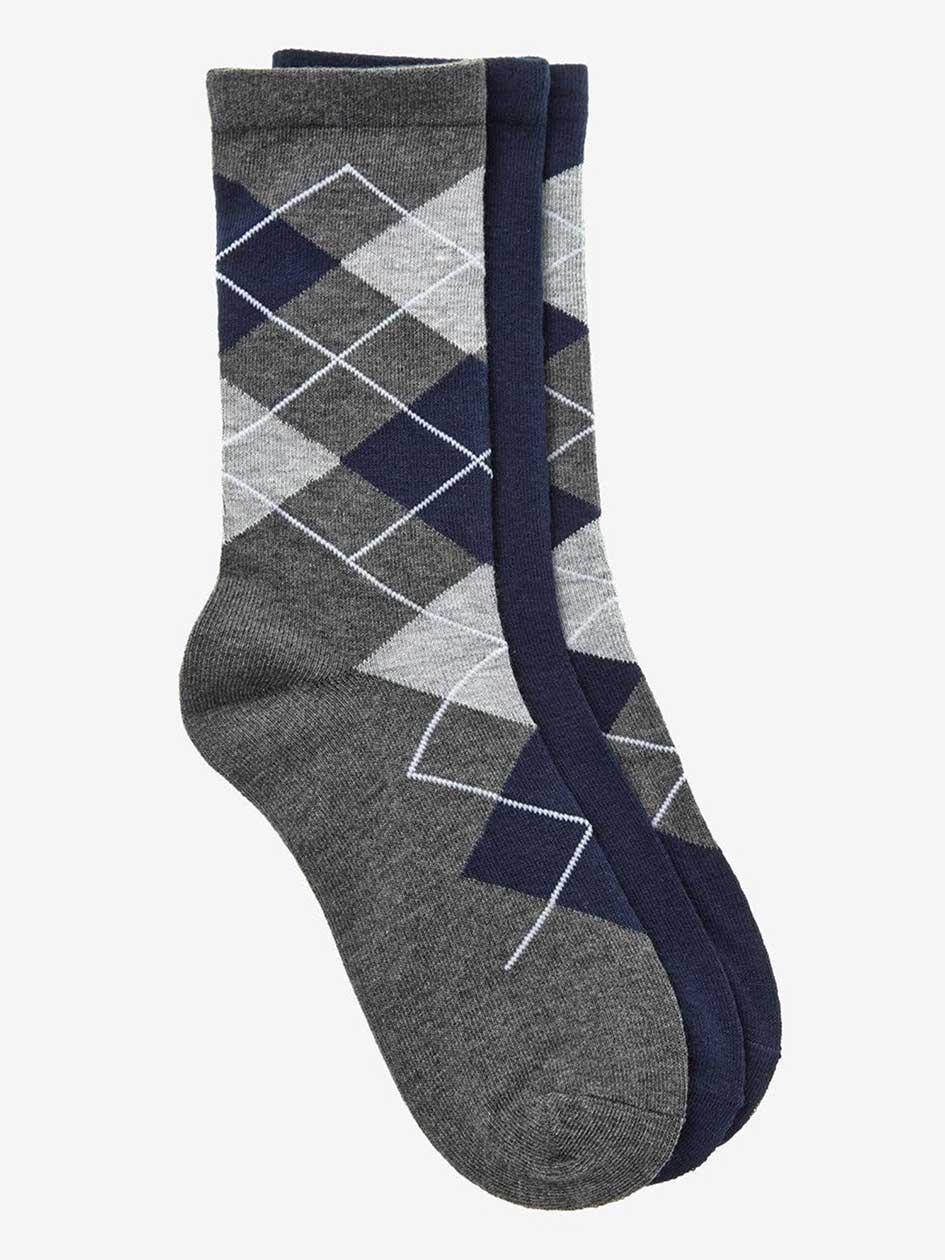 Argyle 3-Pack Combo Socks