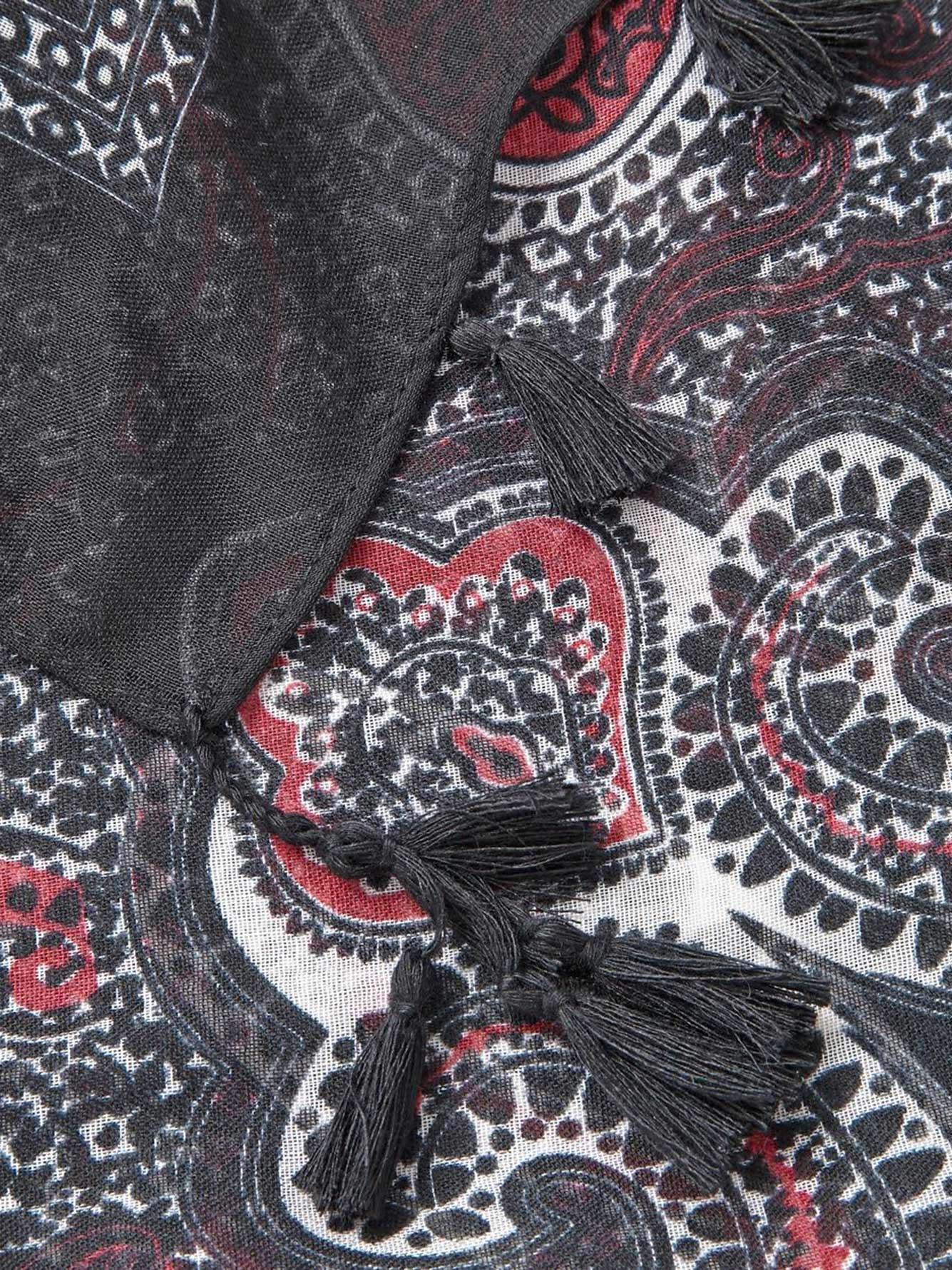 charpe motif cachemire addition elle. Black Bedroom Furniture Sets. Home Design Ideas
