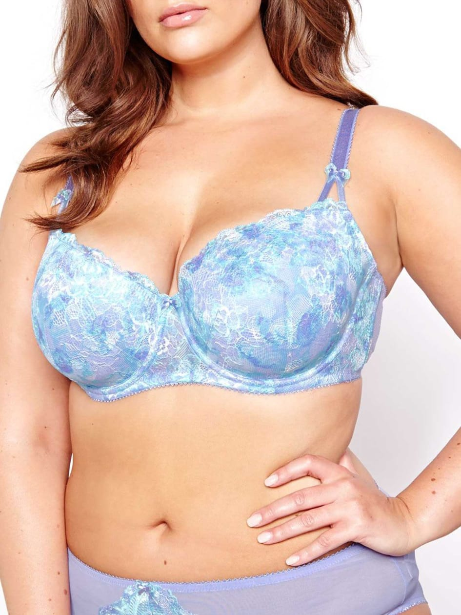 Vixen Balconet Bra with Printed Scalloped Lace -  Déesse Collection