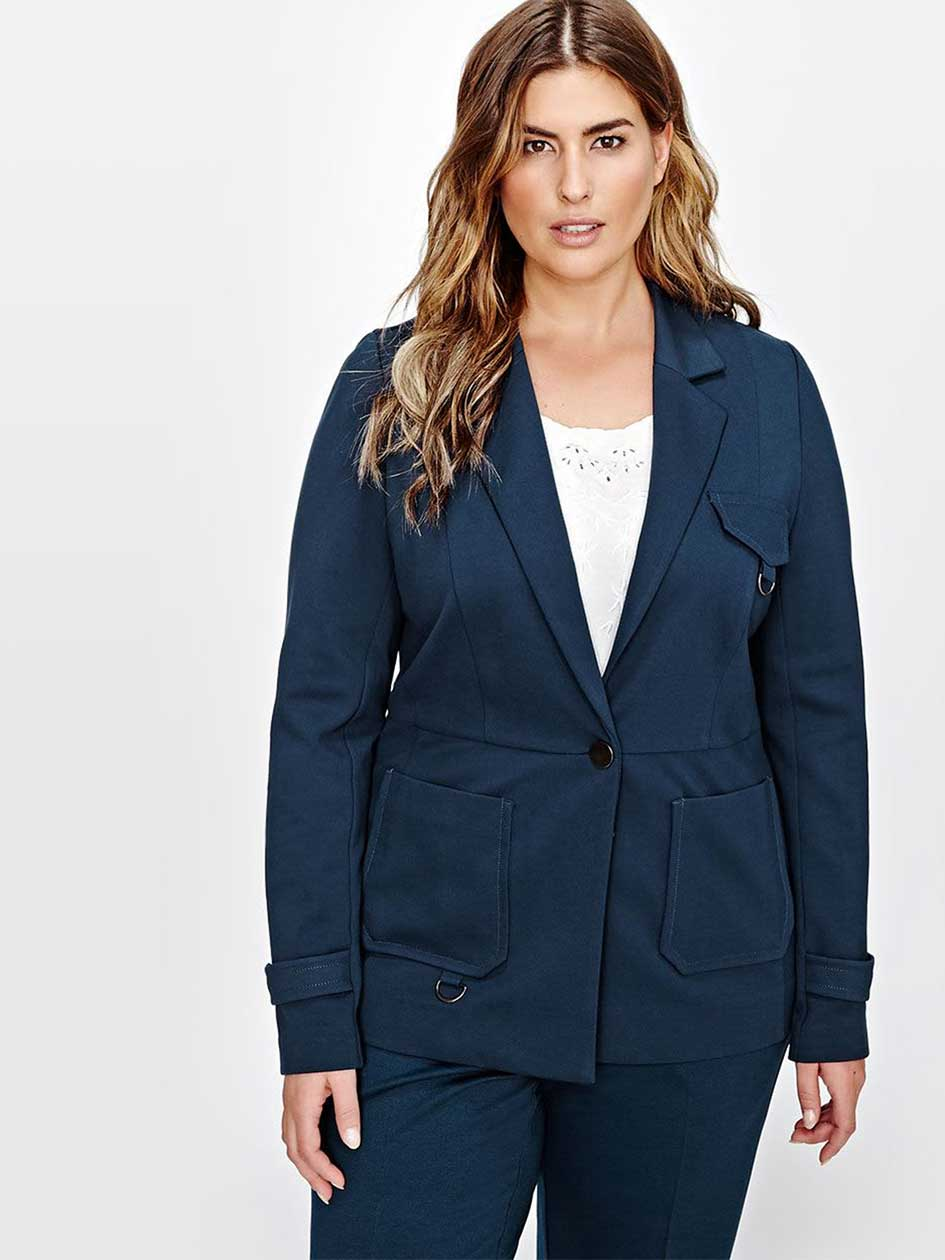 Michel Studio Blazer with patch pockets
