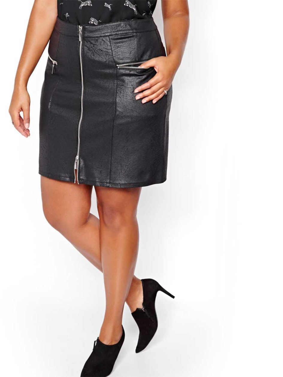 L&L Miniskirt with Zipper Detail
