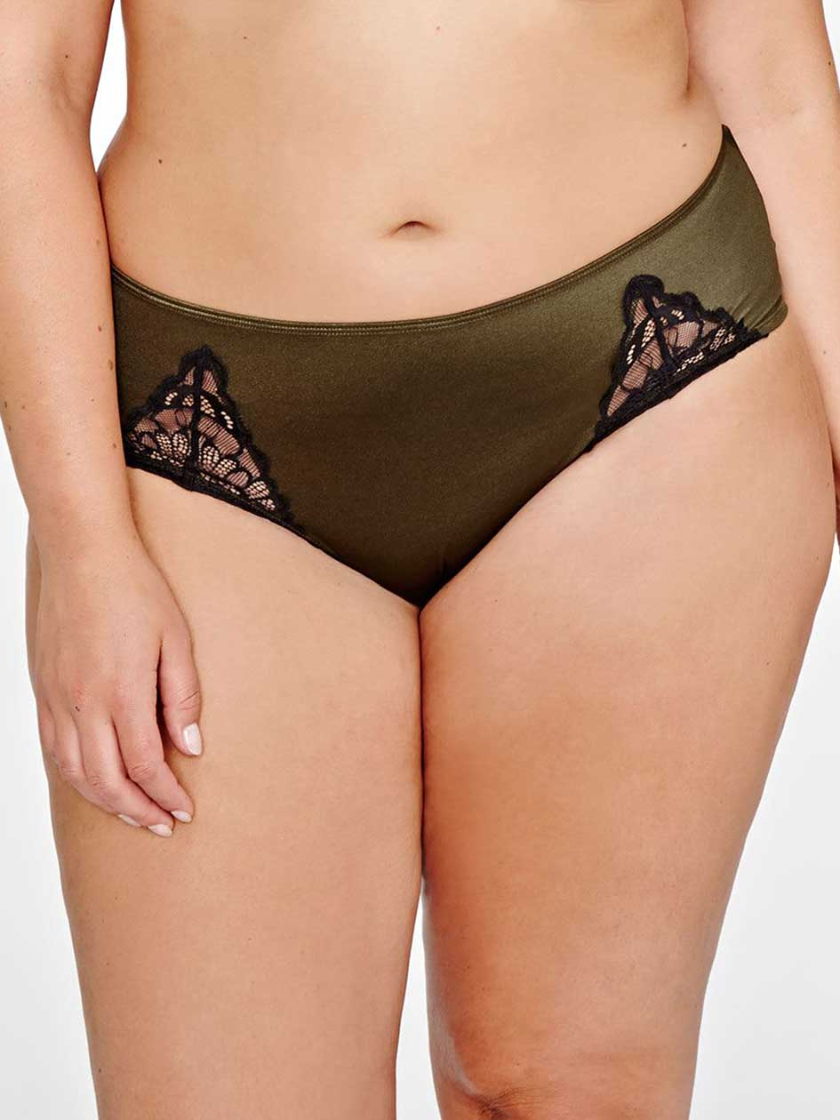 Low Rise Hipster Panty with Lace Insert- Déesse Collection