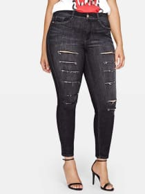 L&L Authentic Skinny Jean with Slashes