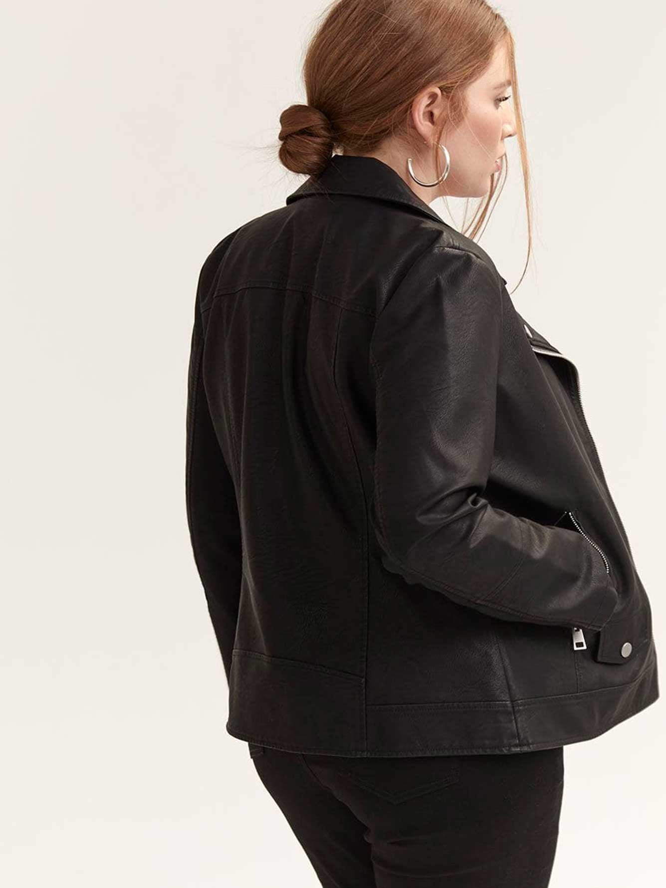 Faux Leather Biker Jacket - Michel Studio